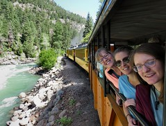 Knutson Gals (knutsonrick) Tags: family daughters hiking colorado durango silverton needleton durangosilverton needlecreektrailhead chicagobasin sanjuanmountains