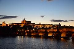 Karlv most and Prask hrad, Praha (martin_19_88) Tags: city bridge castle europe dusk charles praha most hrad karlv prask