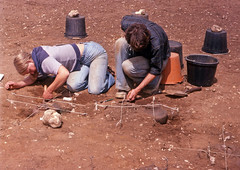 Spong Hill 1979 (robmcrorie) Tags: cambridge archaeology cemetery urn hill norfolk pit hills catherine burial dig feature cremation excavation spong anglosaxin