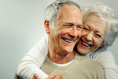 Drug Menopause Treatment - Portrait of Smiling Senior Couple (Best Drug Free Menopause Remedies) Tags: happy couple oldwoman menopause menopausal happywoman menopauseremedies menopausalsymptoms