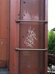 Warf, Sestor, Desh, Niever (BoJackson3) Tags: train graffiti warf desh sestor niever