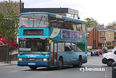 Arriva Yorkshire 637, T637EUB. (EYBusman) Tags: west bus town coach floor yorkshire centre low riding british spectra cowie pontefract woollen daf arriva vdl horsefair optare db250 t637eub eybusman