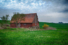 Rustic (Rutger Blom) Tags: old trees roof red sky house brick green broken field grass rural landscape outside 50mm countryside skne europe sweden rustic farmland hills sverige scandinavia due scania zweden ef50mmf14usm canoneos5dmarkii