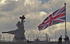 Goalkeeper & Union Jack (Hawkeye2011) Tags: uk london marine military ships greenwich maritime naval riverthames royalnavy warships hmsillustrious