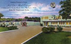 Hal Orr's Hotel Cottages Rocky Mount NC (Edge and corner wear) Tags: vintage pc inn linen quality postcard motel lodge moderne chrome card courts streamline