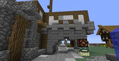 alley-way (fuxstag) Tags: new city clouds harbor boat construction crane district hotair balloon central medieval airship residential better rebuild potions floatingisland flyingislands minecraft madness64 fuxstag