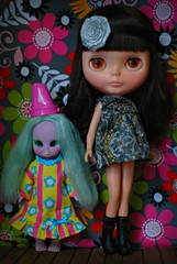 Bronwyn and Harriet ( pixiepoo ) Tags: doll witch kenner blythe brunette emerald