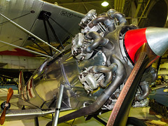 A MKIIA Bristol Bulldog fighter from the 1930s at the RAF Museum, Hendon (Anguskirk) Tags: uk england london 1930s airplanes historic british militaria rafmuseumhendon royalairforce mkiia bristolbulldog 490hp militaty radialpistonengine k2227gabbb bristoljupiterviif radiialengine