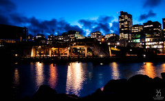 WELLINGTON-10 (kydayaratnephotography) Tags: city longexposure blue sky colour water beauty architecture night stars landscape lights town day wellington vibrance illusive kydayaratnephotography