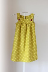 lemonade dress (190.arch (aka mamma190)) Tags: summer girl estate dress sewing nia polkadots verano summerdress vestido sundress pois abito bambina