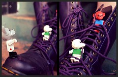 still trying to win docs lol (poly-ester) Tags: toy purple boots dr scene doctor martins docs laces fabuland