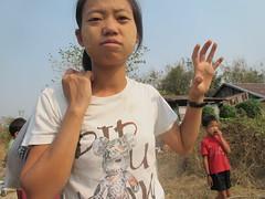 Don't mess with Po Dah (offthebeatenboulevard) Tags: thailand orphanage volunteering maesot burmeseborder