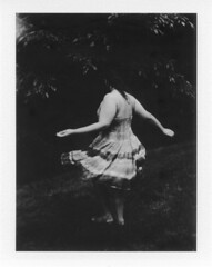 twirl (Analog Light) Tags: film girl vintage polaroid model fuji dress dancing retro pack twirl instant 220 instantgratification fujiroid filmisnotdead fp3000b filmfeed buyfilmnotmegapixels
