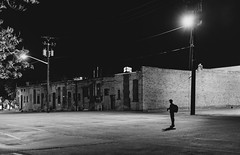 Empty Spaces (Nelson Vargas Photography) Tags: street blackandwhite bw monochrome night photography utah downtown saltlakecity d800 2013 vsco nikond800 nikkor50mmf14g nikon50mmf14g vscofilm visualsupplyco