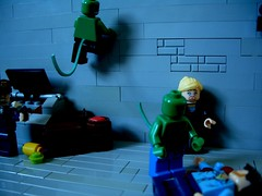 The first kill (Big Green Sea Monster) Tags: street kill lego first lizard murder billy curt marvel connors the