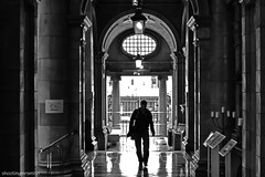 Portico (ShootingMrSmith) Tags: urban blackandwhite silhouette manchester palacehotel monoconversion silverefex