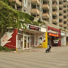 Steilshoop, Hamburg (J@ck!) Tags: graffiti child hamburg desolate hochhaus friseur shopfronts socialhousing steilshoop
