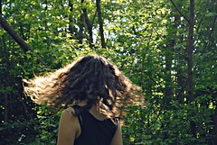 . (aimlessly.) Tags: trees light selfportrait beautiful forest self hair freedom peace wind beautifullight curly lightness