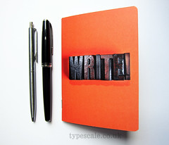 WRITE! notebook (memake) Tags: wood uk orange london notebook handmade letters journal type writer write etsy letterpress stationery jotter woodtype typescale typescalecouk