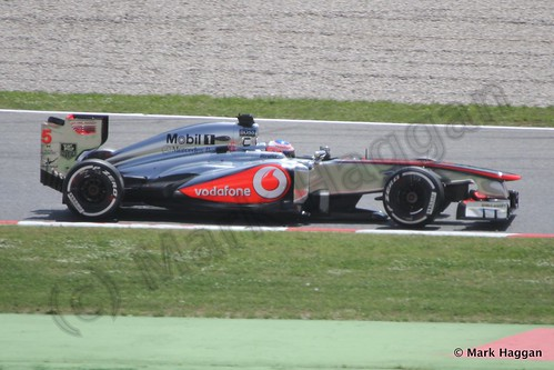 Jenson Button in qualifying for the 2013 Spanish Grand Prix