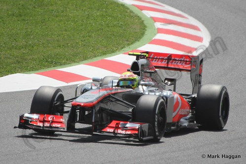 Sergio Perez in qualifying for the 2013 Spanish Grand Prix