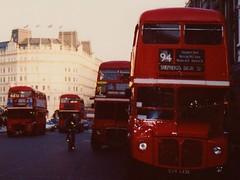 Routemaster's galore !        1990's. (Ledlon89) Tags: bus london transport routemaster parkroyal londonbus aec alltypesoftransport