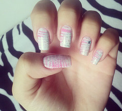 cute pink and blue nail art (gabrielabraga) Tags: pink blue cute nailart nailar