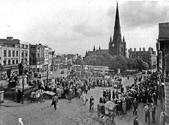 Bull Ring, Birmingham, probably around 1952 (allhails) Tags: birmingham bullring