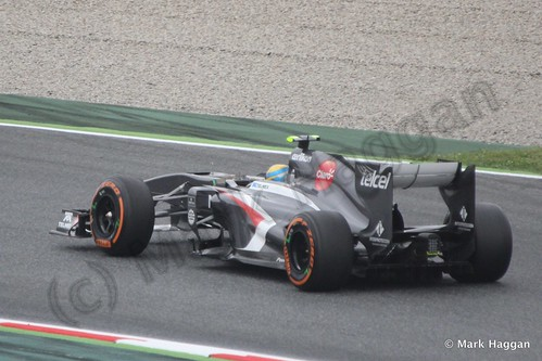 Esteban Gutierrez in Free Practice 1 at the 2013 Spanish Grand Prix
