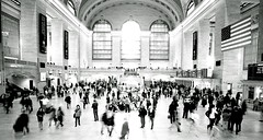 Chaos in Grand Central (Bill Smith1) Tags: nyc midtown xtol ilfordhp5400 leicam42 spring2013 voightlander21f4lens
