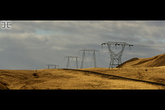 Pylons (JoshJackson84) Tags: iceland wire europe pylon electricity pylons cinematic whalefjord hvalfjordur canon60d sigma18250mm