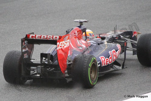 Jean-Eric Vergne in his Toro Rosso in Free Practice 1 at the 2013 Spanish Grand Prix
