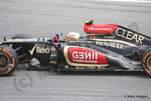 Romain Grosjean in Free Practice 2 at the 2013 Spanish Grand Prix