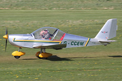 G-CCEM - 2003 build Aerotechnik EV-97A Eurostar, departing Barton on MayDay Bank Holiday Monday (egcc) Tags: holiday manchester eurostar bank barton monday mayday microlight pfa cityairport ev97 1148 aerotechnik egcb rotax912 ev97a gccem 31513987