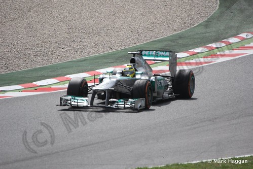 Nico Rosberg in Free Practice 3 for the 2013 Spanish Grand Prix