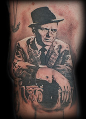 frank sinatra (Mez Love) Tags: sanfrancisco portrait hat tattoo frank suit franksinatra ratpack mezlove tattooboogaloo