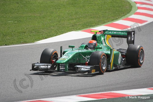 Alexander Rossi in Saturday's GP2 race at the 2013 Spanish Grand Prix