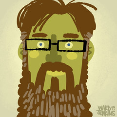 my beard's too big for this space (wardomatic) Tags: selfportrait color illustration whatever selfie