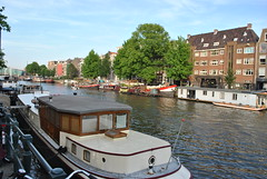Mood of Amsterdam (LacaGyenes) Tags: summer amsterdam boat ship channel