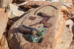 100 Year Old Relicts (Serendigity) Tags: glass mine desert rusty australia mining outback pioneer northernterritory fragments relicts arltunga historicalreserve eastmacdonnellranges jokergoldmine