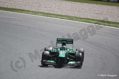 Charles Pic in his Caterham in the 2013 Spanish Grand Prix