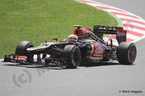 Romain Grosjean in the 2013 Spanish Grand Prix
