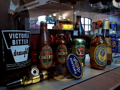 Historical beer bottles and cans display (Collingwood Historical Society) Tags: beer bottles brewery abbotsford