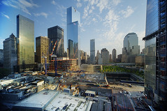 World Trade Centers Today (Tony Shi.) Tags: new york nyc newyorkcity building four construction downtown worldtradecenter 4 hilton progress 7 millennium seven wtc complex groundzero lowermanhattan whotel rebuild worldtrade silverstein buidlings 911memorial    silversteinproperties