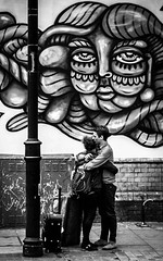 Ill be watching you - London 2013 [Explored 16/05/13] (Sekano) Tags: life street blackandwhite bw black london byn window bike reflections blackwhite flickr streetphotography documentary lifestyle lovers londres goodbye despedida adios sekano