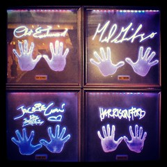 Celebrity Hands (Joe Shlabotnik) Tags: cameraphone nyc hands harrisonford melgibson planethollywood jackiechan clinteastwood signatures handprints autographs 2013 droid2 may2013 instagram
