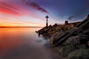 Seaton Sluice Harbour Groyne (Alistair Bennett) Tags: sunset seascape evening rocks harbour northumberland groyne seatonsluice nd09 canonef1740mmƒ4lusm gnd075he