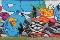 Trav & Pursue in Detroit (SMKjr) Tags: street art graffiti detroit kings production msk mad cod trav society persue 1xrun
