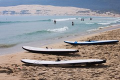 Boards (IrinaSto) Tags: ocean sport spain sand holidays board wave surfing tarifa