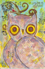 Owl (snap713) Tags: mixedmedia owl